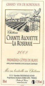 Château Chante Alouette la Roseraie