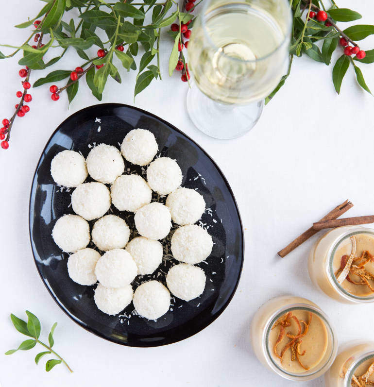 Shredded Coconut Truffles with condensed milk
